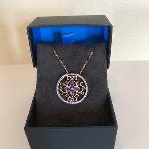 Jewelry - Amethyst Flower Pendant Necklace